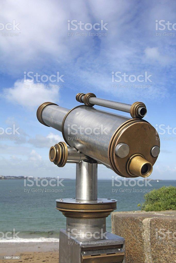 panoramic telescope royalty-free stock photo