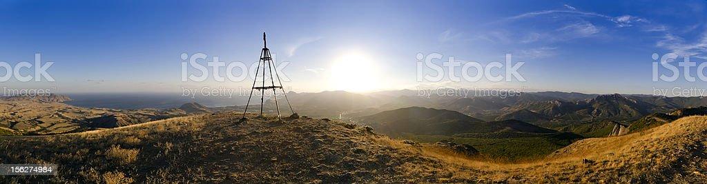 Panoramic top view from mountain Ay-Georgiy royalty-free stock photo