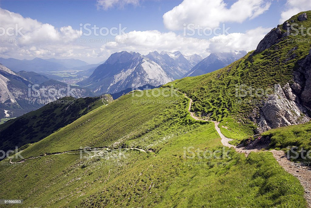 Panoramic Trail High-Up stock photo
