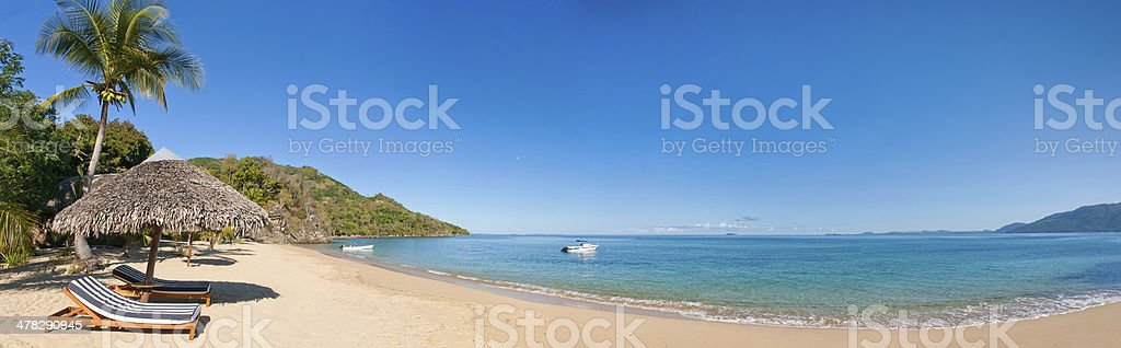 Panoramic tropical beach royalty-free stock photo