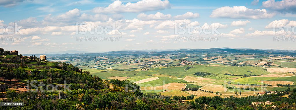 Panoramic Tuscany Landscape stock photo