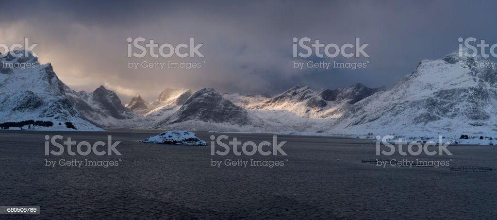 Panoramic view around Ramberg stock photo