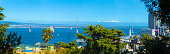 Panoramic View Bay Bridge Telephoto San Francisco