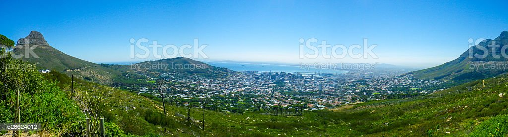 Panoramic View Cape Town Western Cape South Africa stock photo