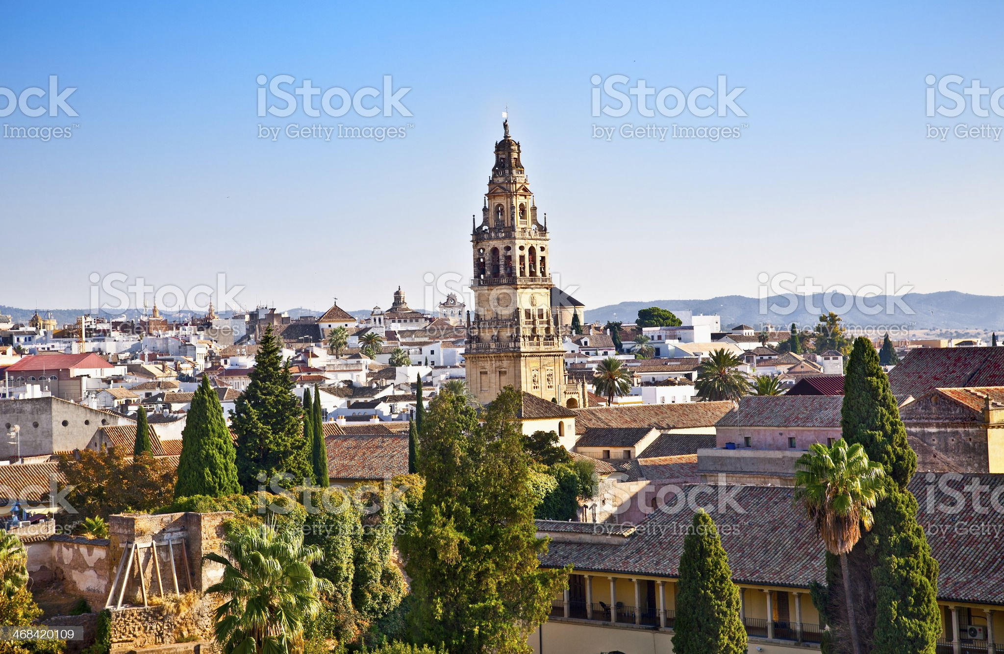 Panoramic view from Alcazar on Cordoba's roofs,  Spain royalty-free stock photo