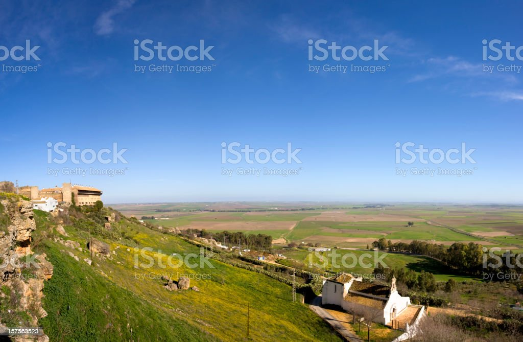Panoramic view from Carmona Spain royalty-free stock photo