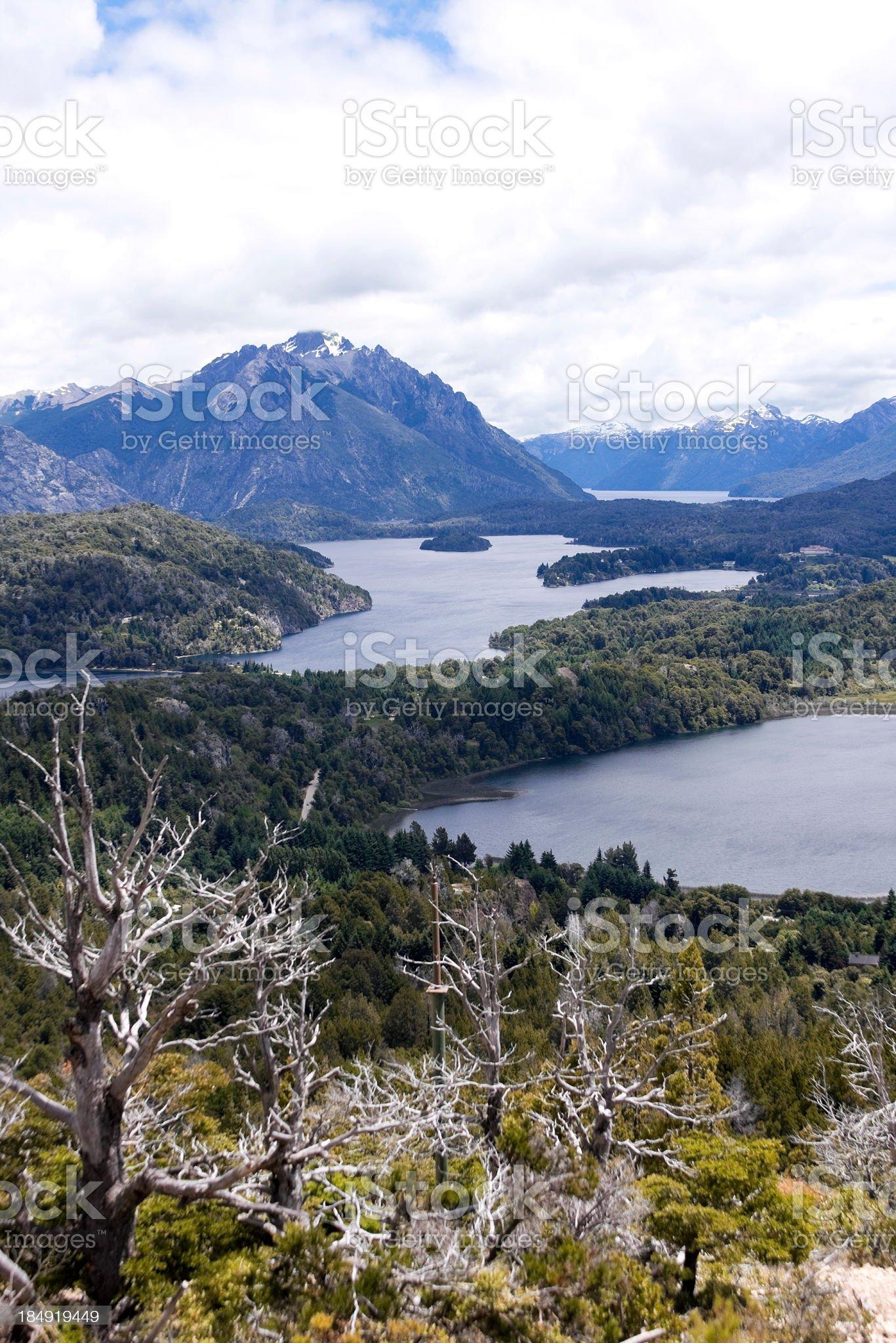 Panoramic View from Cerro Campanario royalty-free stock photo