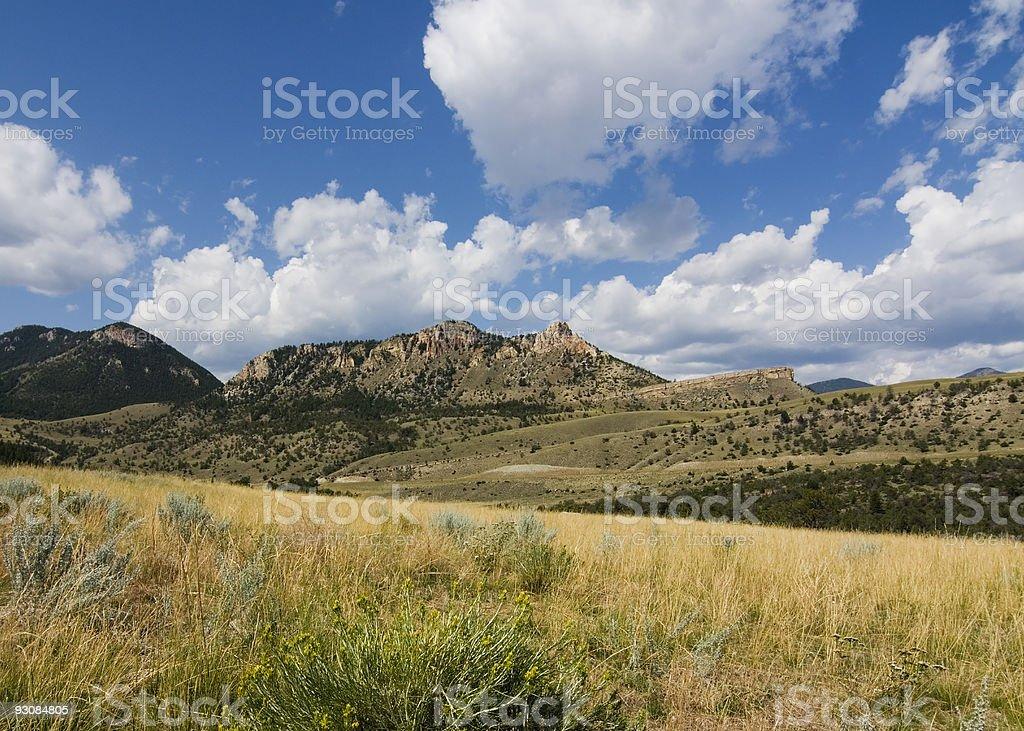 Panoramic View From Chief Joseph Scenic Highway stock photo