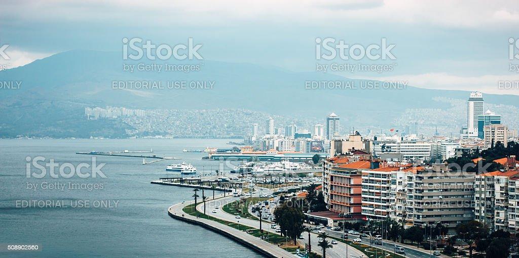 Panoramic View From Izmir stock photo