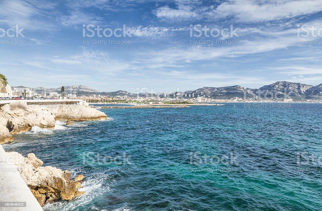Panoramic view from La Corniche du Pr?sident John Fitzgerald Kennedy stock photo