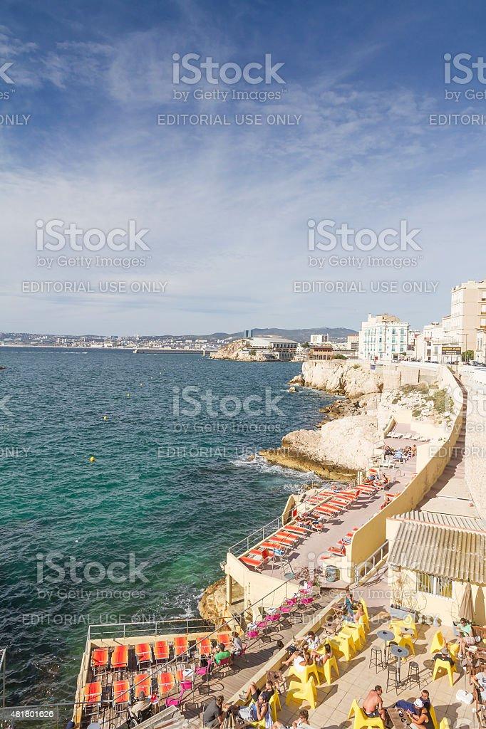 Panoramic view from La Corniche du Président John Fitzgerald Kennedy stock photo