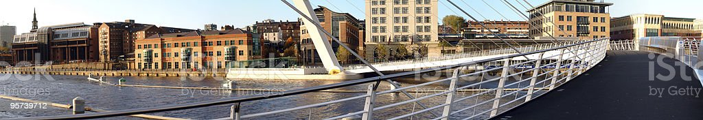 Panoramic View From On The Millenium Bridge royalty-free stock photo