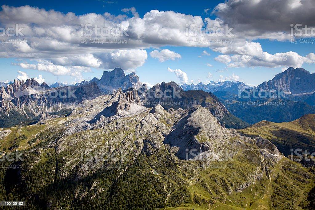 Panoramic View from Rifugio Lagazuoi stock photo