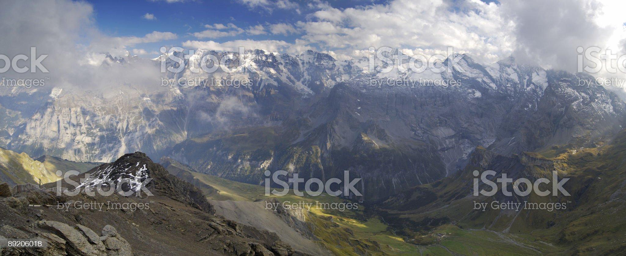 Panoramic view from Schilthorn, Switzerland royalty-free stock photo