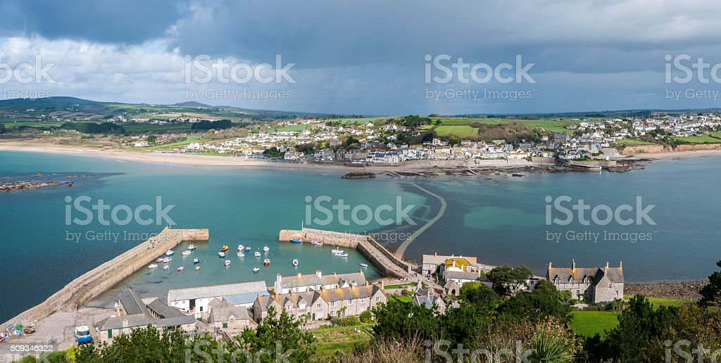 Panoramic View From St Michael's Mount In Cornwall, England stock photo
