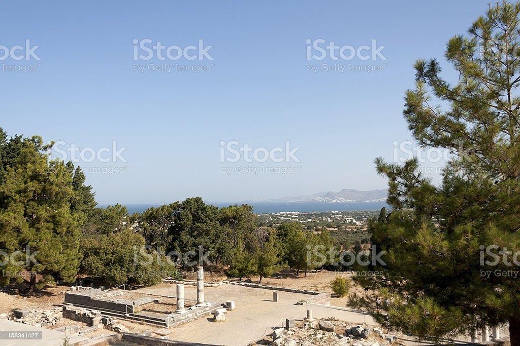 Panoramic view from the asklepieion on Kos stock photo