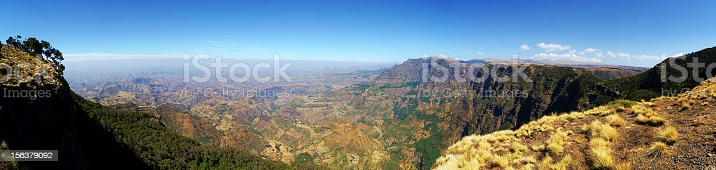 Panoramic view from the Simien Mountains royalty-free stock photo