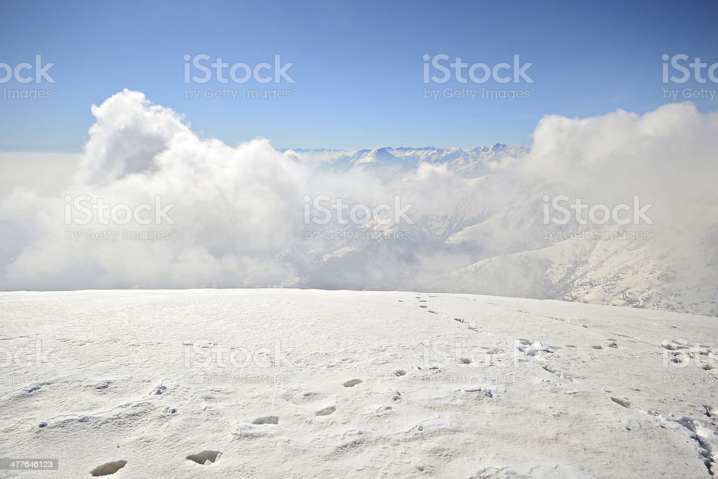 Panoramic view from the summit royalty-free stock photo