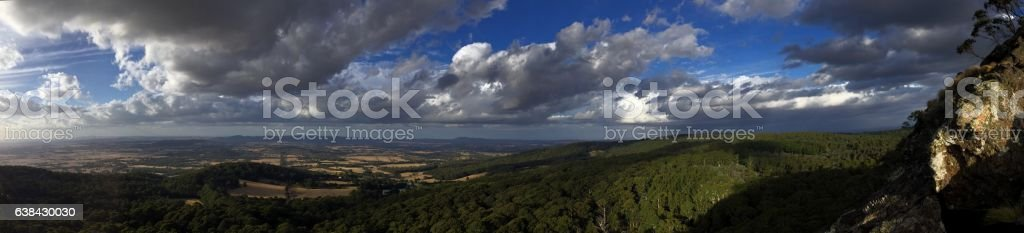 Panoramic view from the top stock photo