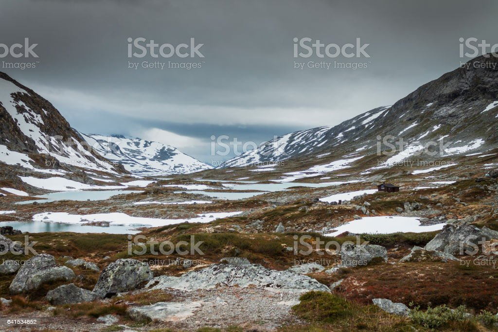 Panoramic view from touristic road 258 stock photo