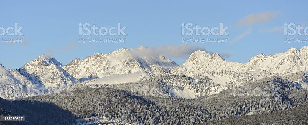 Panoramic View Gore Range Mountains Vail Colorado stock photo