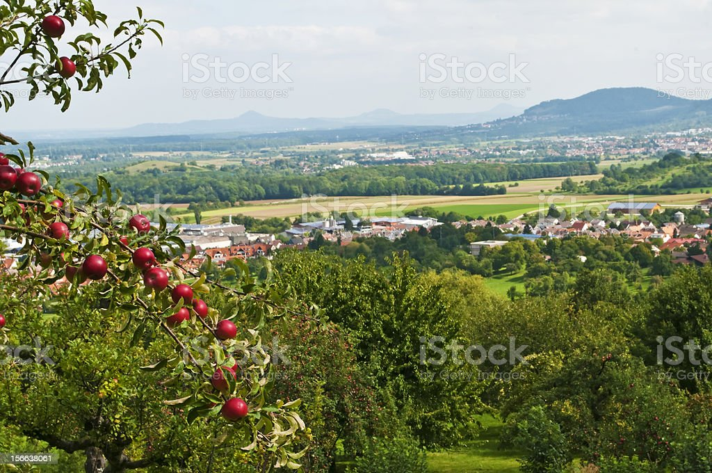 Panoramic view in Baden-Wuerttemberg royalty-free stock photo
