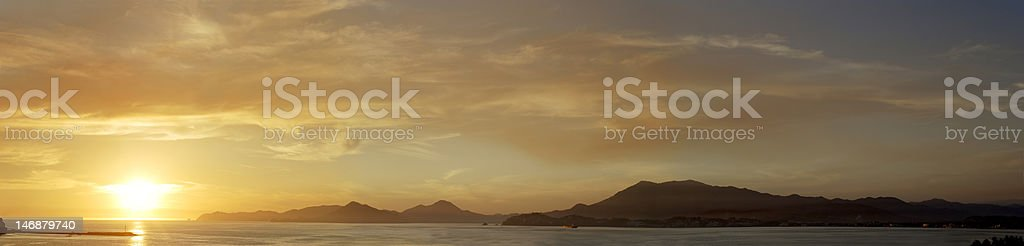 Panoramic View in Manzanillo stock photo
