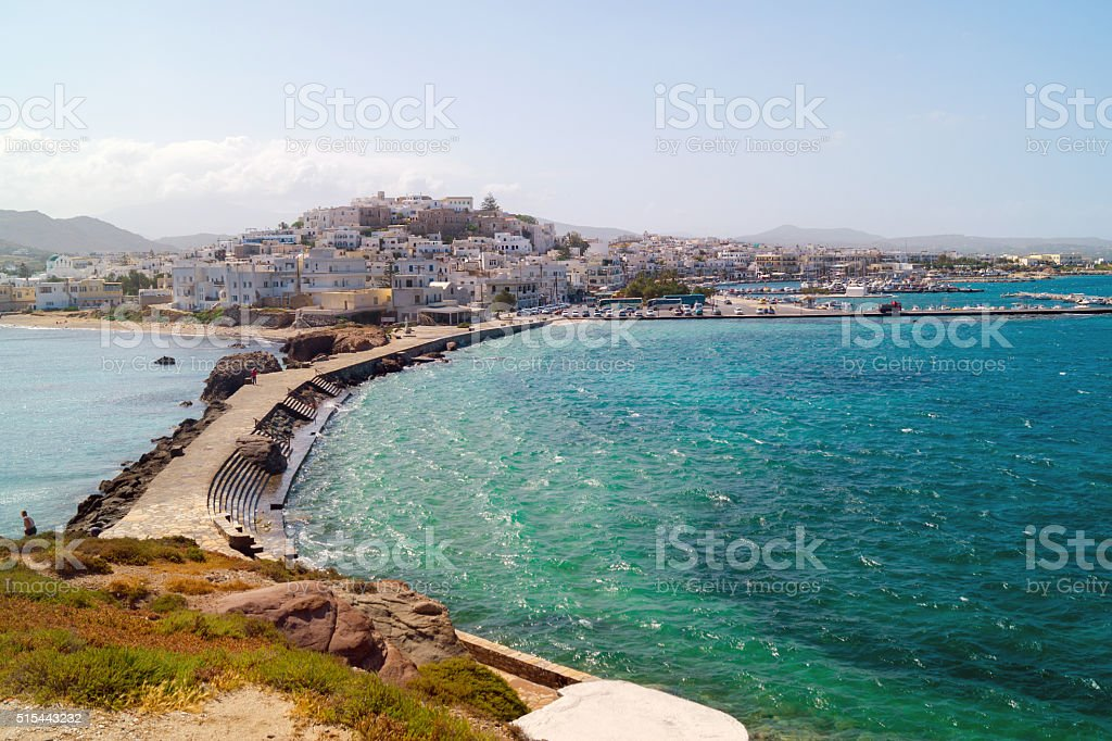 Panoramic view in Naxos island, Cyclades, Greece stock photo