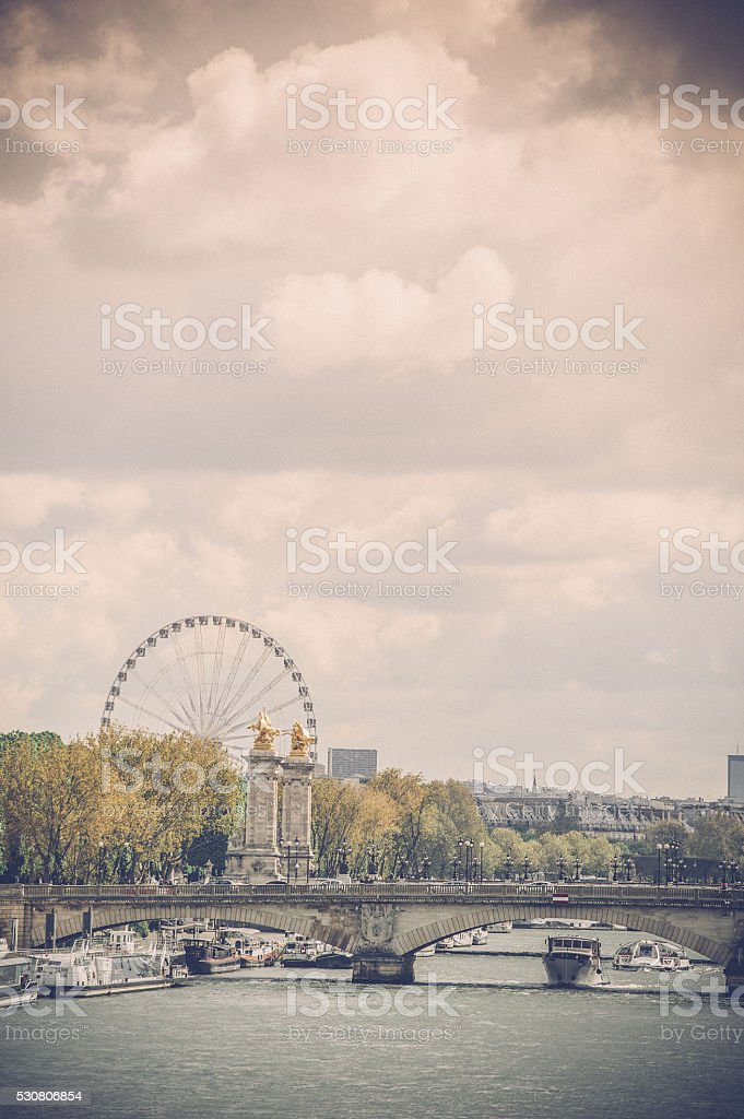 Panoramic view in Paris, France stock photo