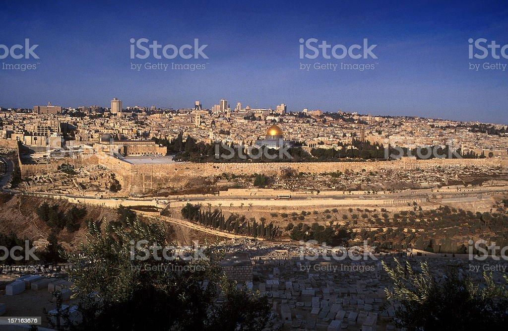 Panoramic view Jerusalem stock photo