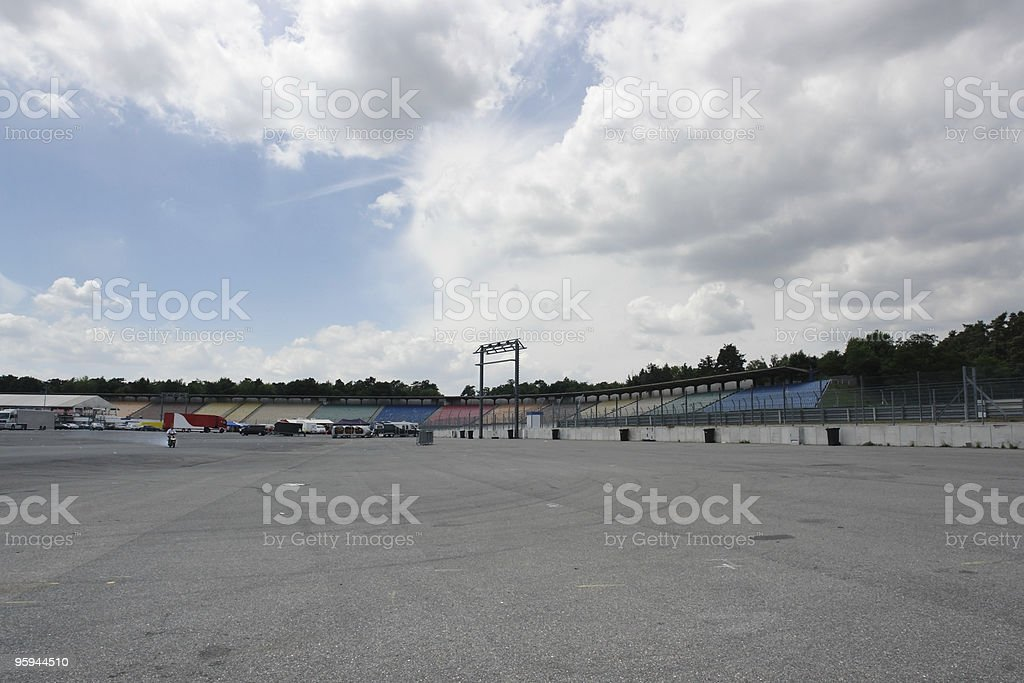 panoramic view near race course royalty-free stock photo