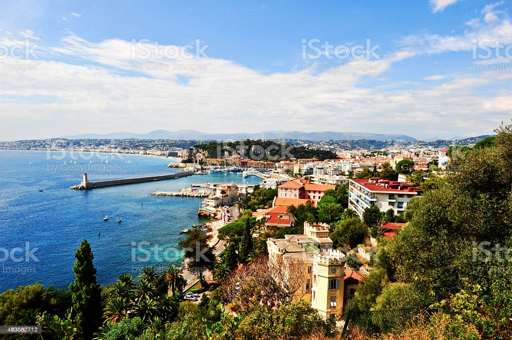 Panoramic view Nice stock photo