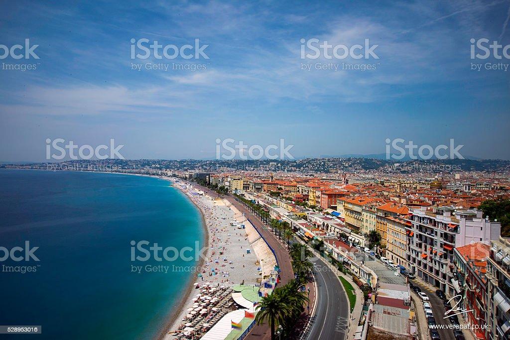 Panoramic view Nice stock photo