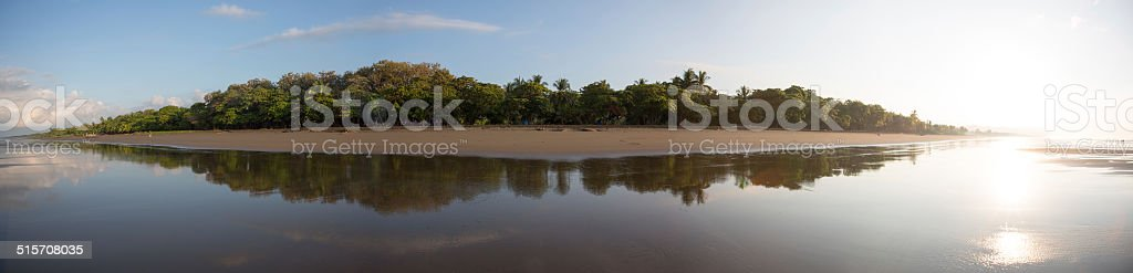 Panoramic view of a beach in Costa Rica stock photo