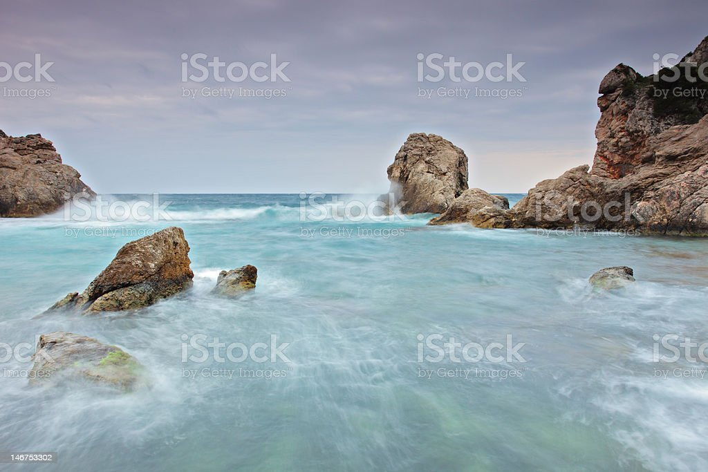 Panoramic view of a cliff royalty-free stock photo