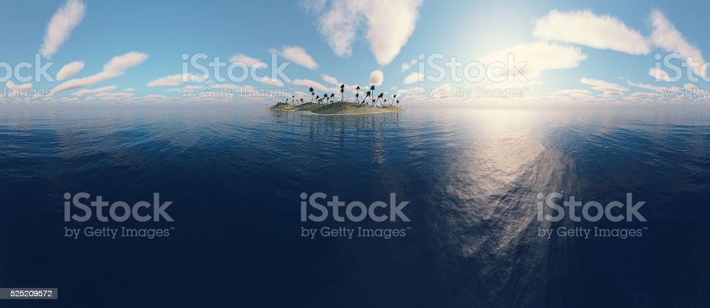 Panoramic view of a island stock photo