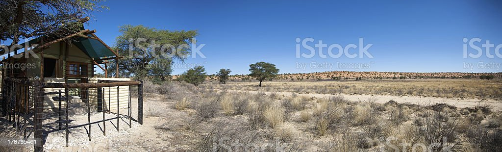 Panoramic view of a lodge royalty-free stock photo