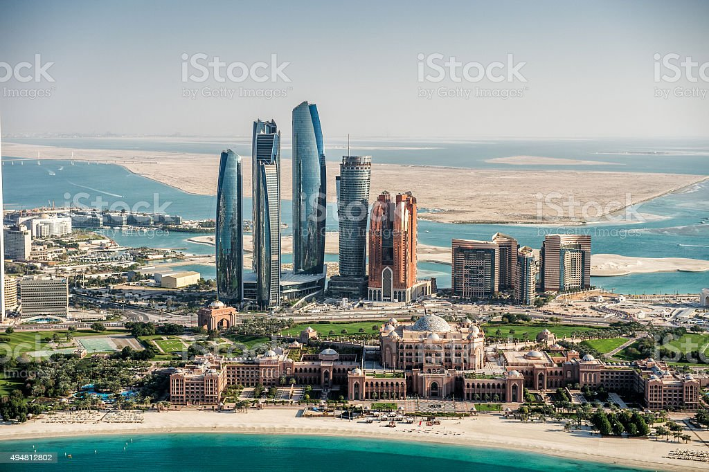 Panoramic view of Abu Dhabi stock photo