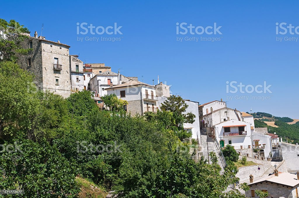 Panoramic view of Alberona. Puglia. Italy. royalty-free stock photo