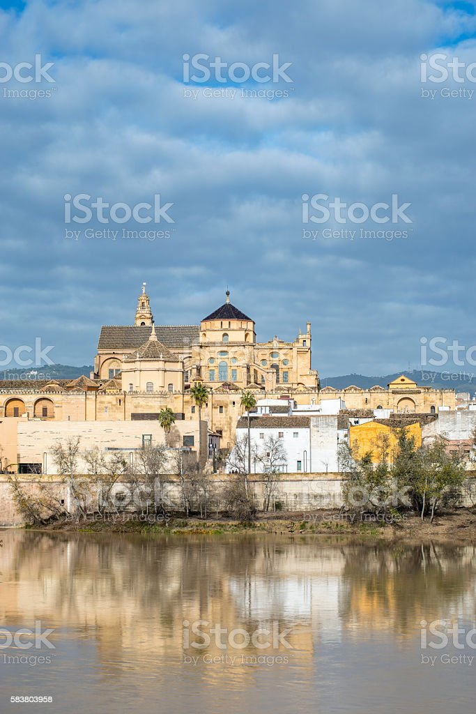 Panoramic view of ancient centre of Cordoba, Mosque-Cathedral. Andalusia. Spain. stock photo