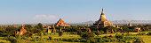 Panoramic view of ancient temples in Bagan