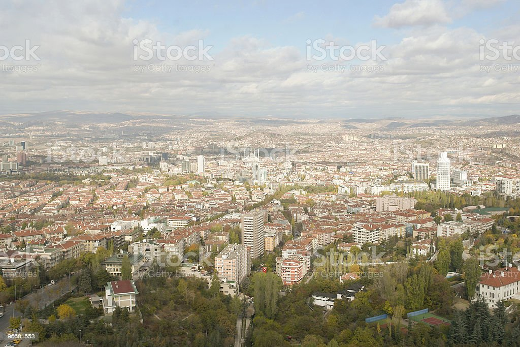 Panoramic view of Ankara royalty-free stock photo