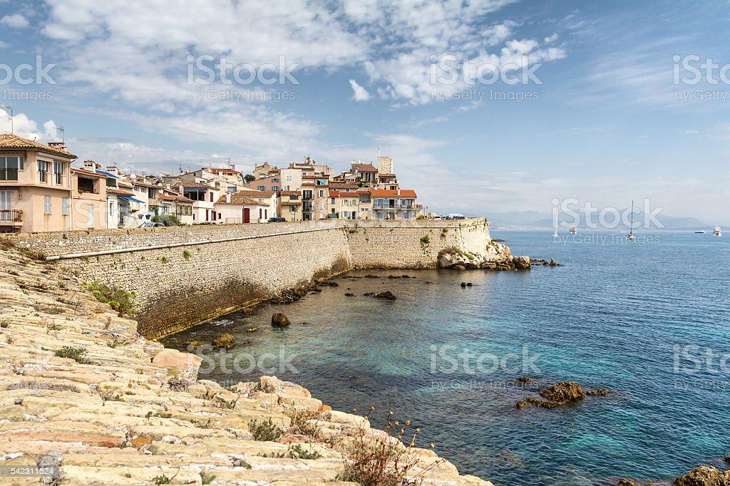 Panoramic view of Antibes - French Riviera stock photo