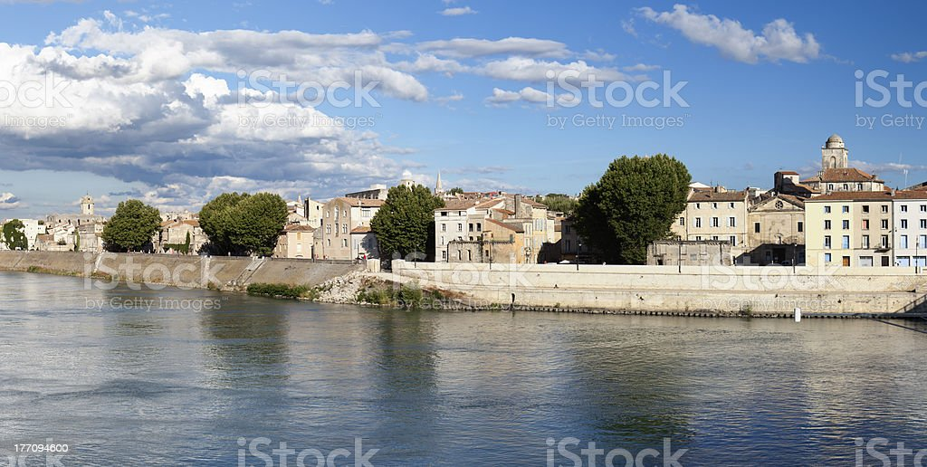 Panoramic view of Arles (Provence,France) stock photo