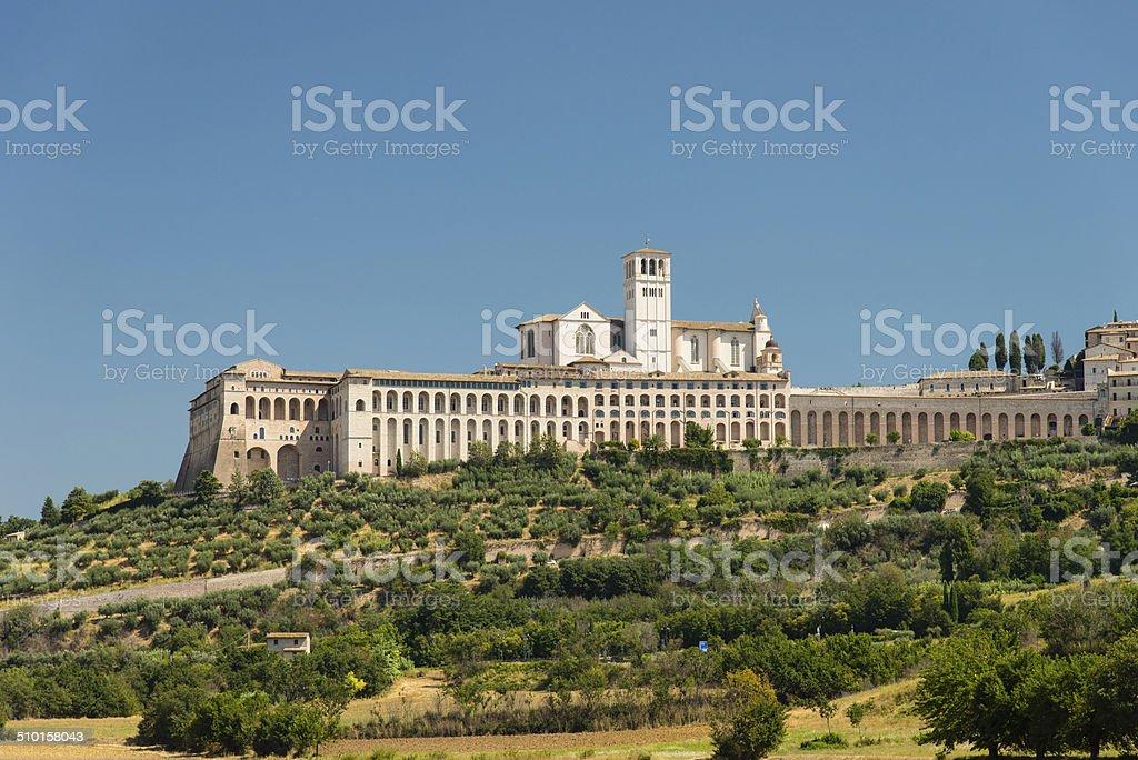 Panoramic view of Assisi stock photo