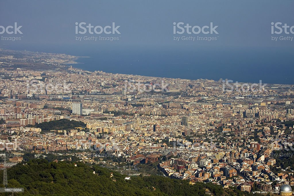 Panoramic view of Barcelona royalty-free stock photo