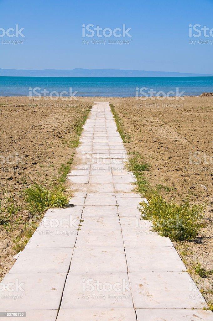 Panoramic view of Barletta. Puglia. Italy. stock photo