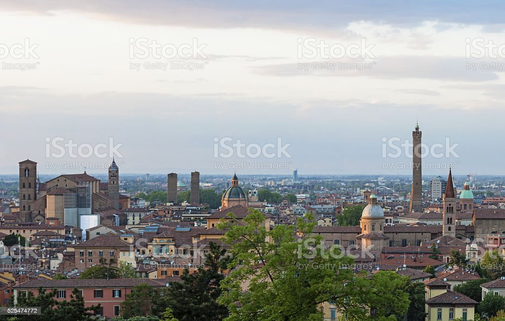 Panoramic view of Bologna stock photo