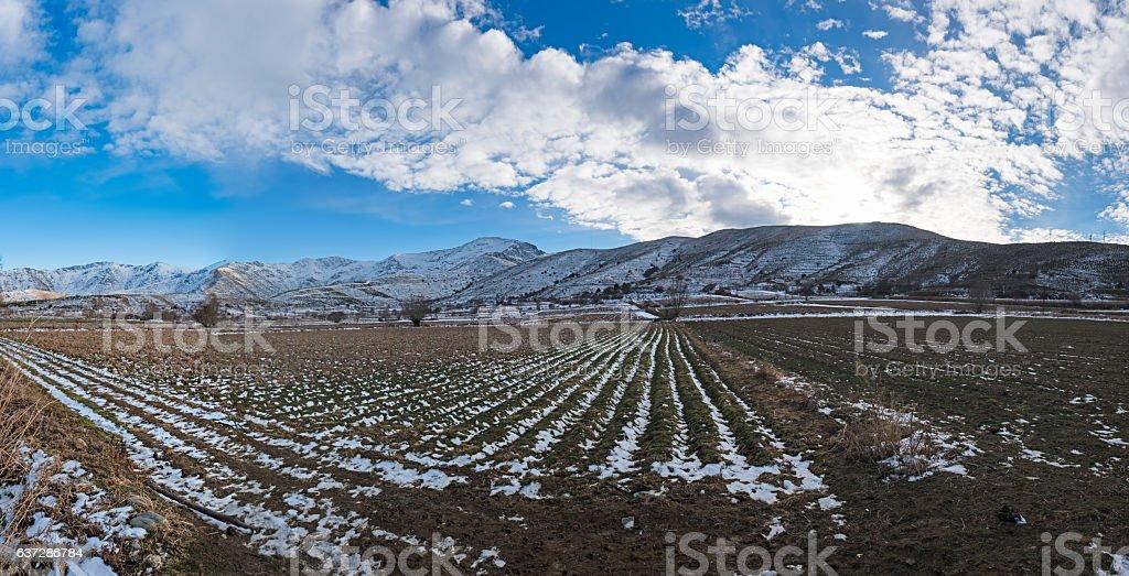 Panoramic view of Bozdag stock photo