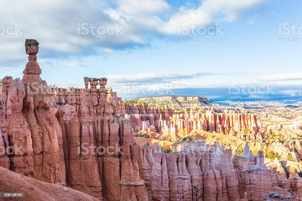 Panoramic view of Bryce Canyon stock photo
